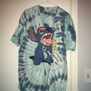 Blue tie-dye, Stitch shirt